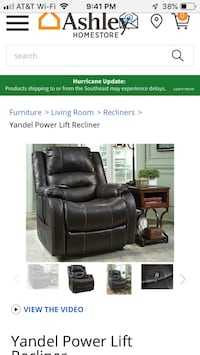 black leather recliner sofa chair screenshot