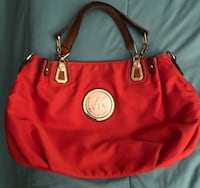 Red and black michael kors leather tote bag North Bay Village, 33141