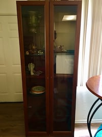Brown Wood and Glass Cabinet Los Angeles, 91367