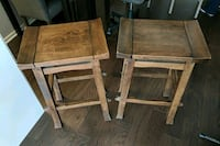 two brown wooden bar stools Chicago, 60605