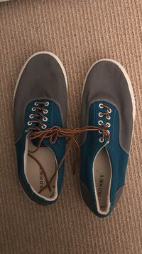 pair of gray-blue-and-white Old Navy low tops 27 mi