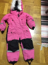 Toddlers rosa och svart zip-up hoodie Norsborg, 145 56