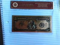 24k gold plated special addition 5 $bill Oakland, 94607