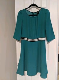teal and black scoop-neck long-sleeved dress Fairfax, 22030