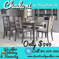 Chadoni 7 piece diningroom set by Ashley in stock  Mooresville, 28115