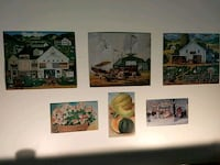 four assorted painting wall decors Southbury, 06488