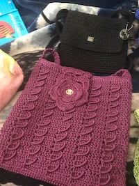 red and black knitted textile 2379 mi