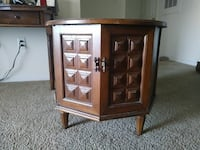 brown wooden  hutch with cabinet Charlotte, 28212