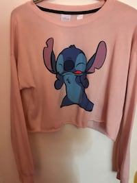 Pink Stitch Long Sleeved Crop Top Toronto, M9V 4M1