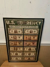 """US Currency Poster 35""""X 23"""" Baltimore, 21206"""