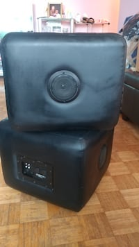 black leather stool,small chair Toronto