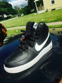 black and white Nike Air Force 1 high top Columbus, 43219