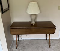 Expandable Accent Table with fold down leafs, solid Wood
