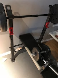 Black and red bench press