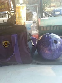 Purple bowling ball with bag price firm12 pounds