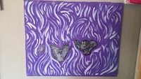 purple and white abstract painting Oakland, 94602
