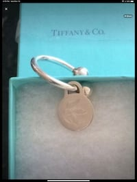 TIFFANY & CO Sterling Silver HEAVY Key Ring 925