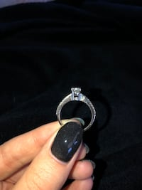Diamond engagement ring and wedding band