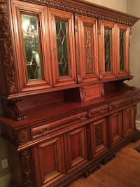 Brown wooden china cabinet screenshot Vaughan, L4L 7R6