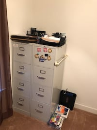 1 file cabinet with hanging folders