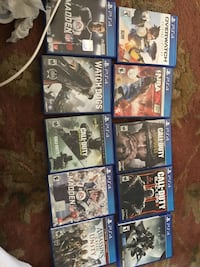nine assorted PS4 game cases Anmoore, 26323