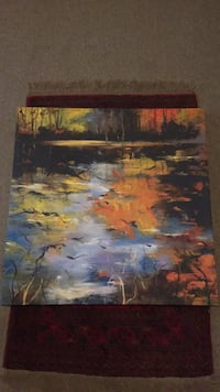 Abstract swamp painting  Centre Wellington, N1M 3K2