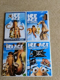 New Set if 4 Ice Age DVD's Frederick, 21702