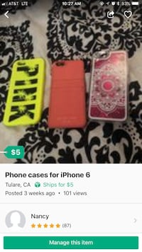 red and white smartphone case screenshot Tulare, 93274