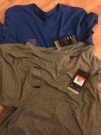 Brand new set of two men's Nike dry fit short sleeve shirts Westville, 08093