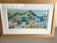 Artist: Kay Ameche, American (1904 - 2005) Title: Ft. Point Print Framed  Artist: Kay Ameche, American (1904 - 2005)  Title: Ft. Point, San Francisco, CA Year: 1981 Medium: Serigraph, signed and numbered in pencil Edition: 200, AP 40 Image Size: 12 x 25 i Toronto