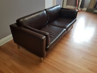 Classy Brown Leather Couch Toronto