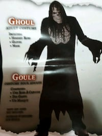 GHOUL ADULT COSTUME includes mask Barrie, L4N 7N2