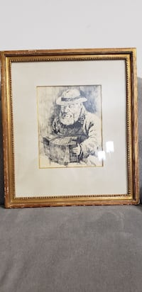 brown wooden framed painting of man Madison, 53719