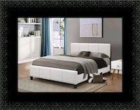 White platform bed with mattress and box Hillcrest Heights