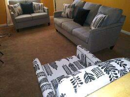 King Bed Room Set and 3 Piece Living Room Set
