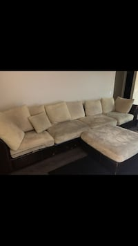 Brown and black sectional sofa San Clemente, 92672
