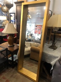Uttermost Edmonton Full Length Wall Mirror, Gold Leaf Frame Los Angeles