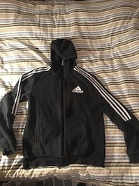 black and white adidas zip-up hoodie Prestonpans