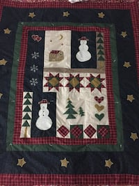 Handmade Holiday throw- bed cover - wall display - table cover Frederick, 21703