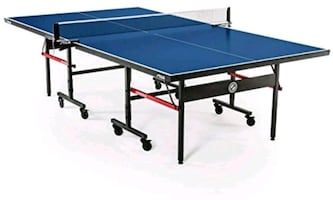 Brand New blue and black ping pong table