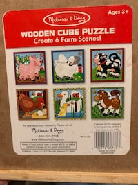 Melissa & Doug Wooden Farm Cube Puzzle  Woodbridge, 22192