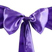purple and silver satin chair sashes  68 km