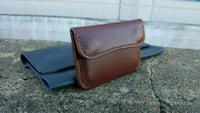 Handcrafted vegetable tanned leather snap Wallet Montréal, H3B 4W8