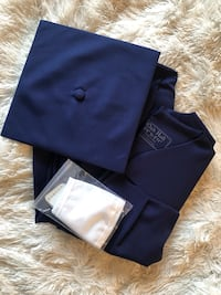 Blue Cap and Gown with white sash BRAND NEW Stafford, 22554