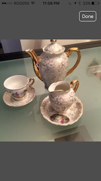 gold plated set antique, very fine china set or BO. 6 pieces Vaughan, L4H 3P6
