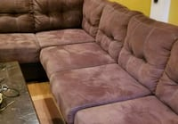 brown suede 3-seat sofa Springfield, 22151