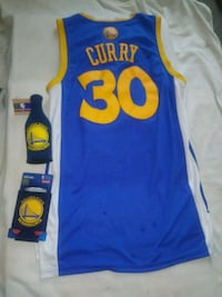 blue and yellow Golden State Warriors Stephen Curry 30 jersey San Jose, 95126