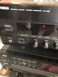 Amp and CD changer..Sound System with Yamaha Amp and JVC 5 CD changer.