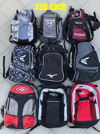 Baseball bags in good condition equipment bats gloves backpack Culver City, 90230