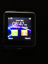 Black smart watch 12 km